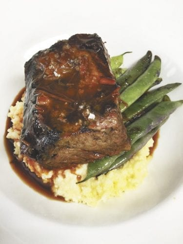 "Braised Painted Hills Short Ribs with Millet ""Risotto"""